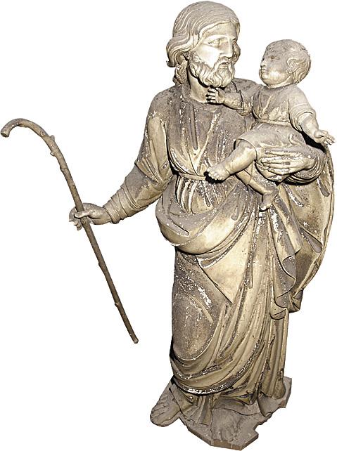 Statua di San Giuseppe con il Bambino Gesù