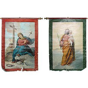 Stendardo con la Madonna Addolorata e San Giuseppe
